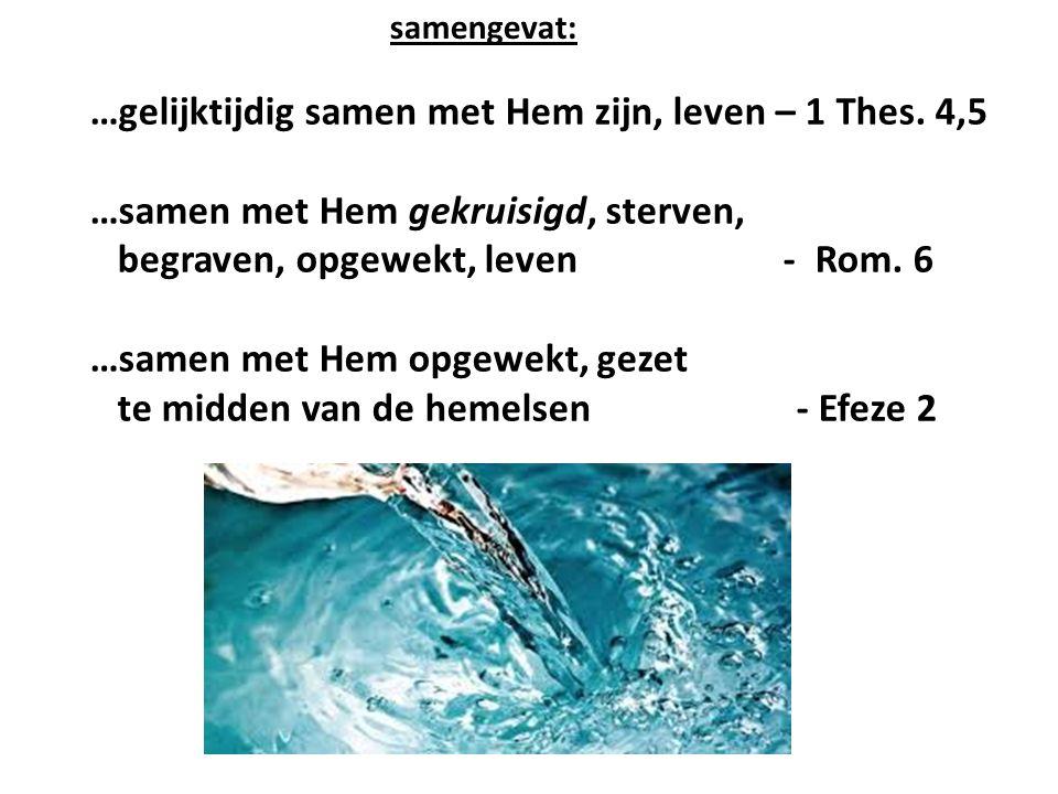 …gelijktijdig samen met Hem zijn, leven – 1 Thes.