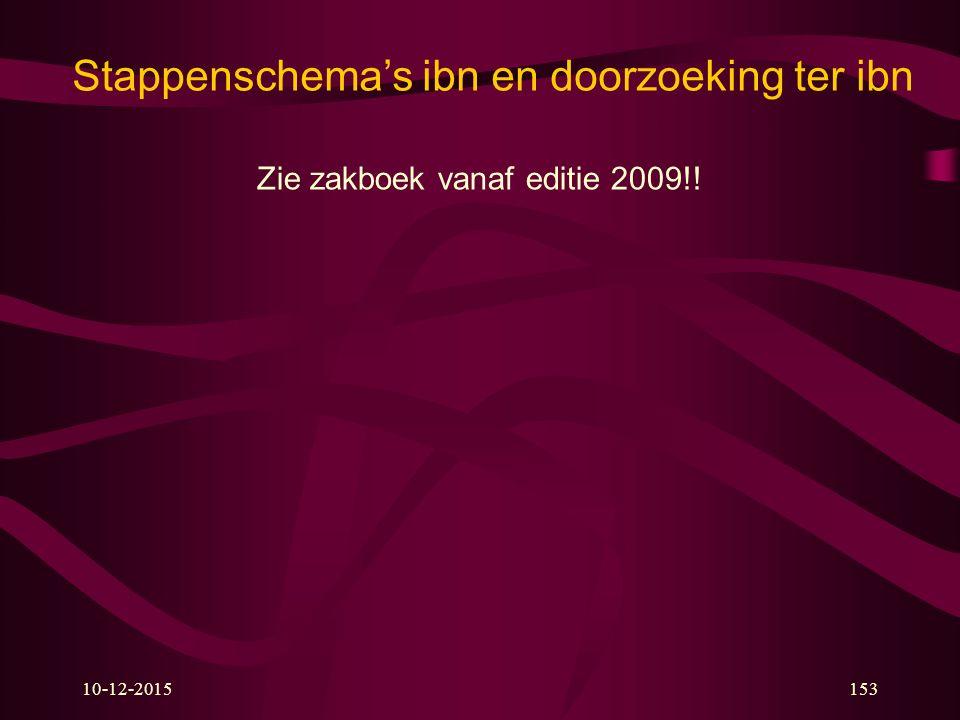 10-12-2015153 Stappenschema's ibn en doorzoeking ter ibn Zie zakboek vanaf editie 2009!!