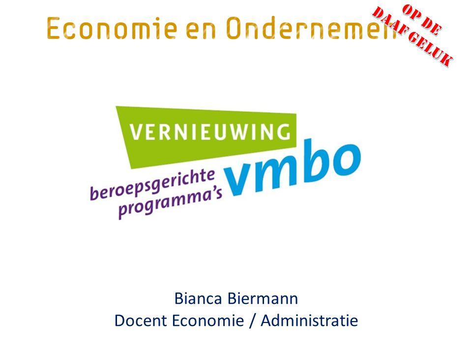 Bianca Biermann Docent Economie / Administratie