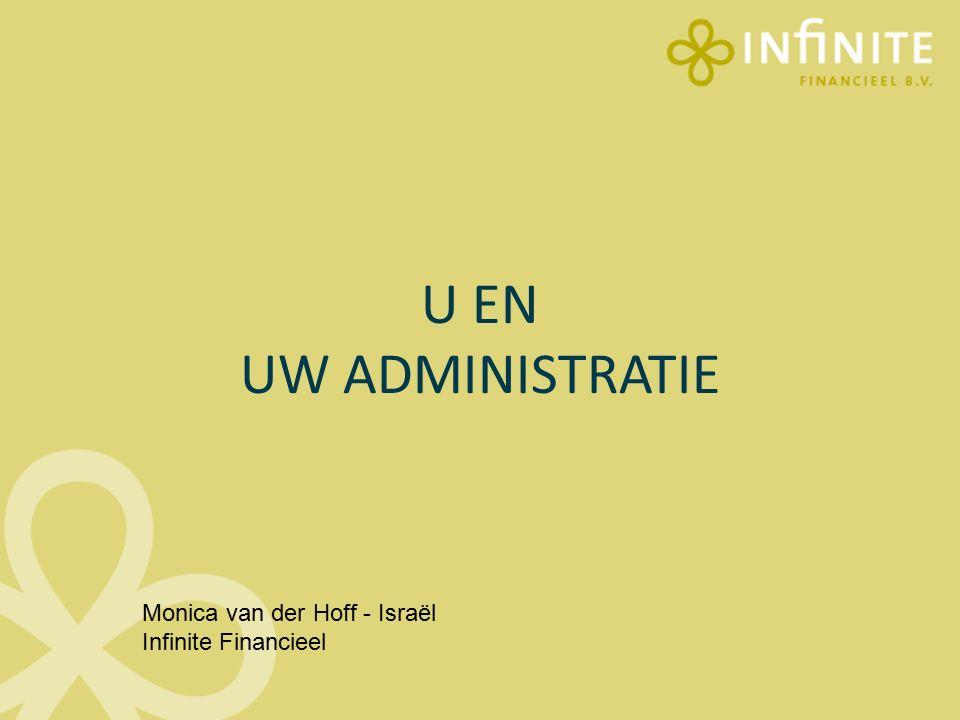 U EN UW ADMINISTRATIE Monica van der Hoff - Israël Infinite Financieel
