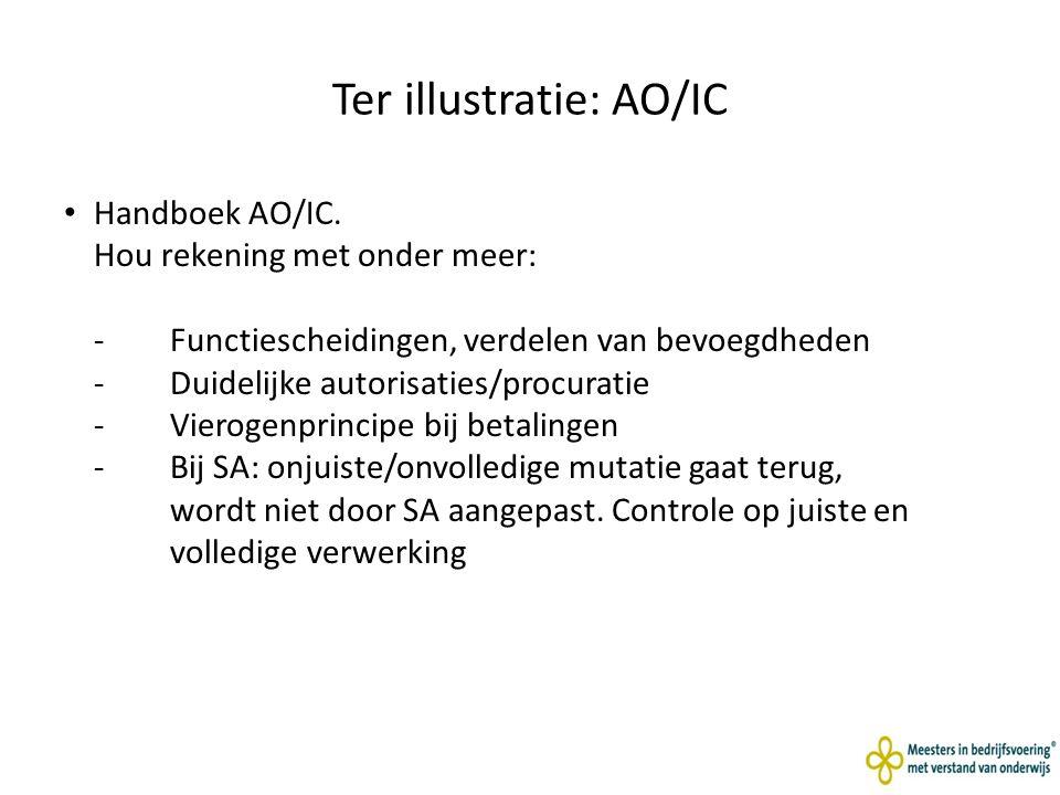 Ter illustratie: AO/IC Handboek AO/IC.
