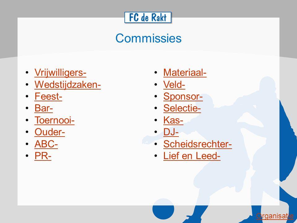 Sponsor commissie Willem van de Brand (VZ) Eva van den Broek Jan Verkuijlen Gert de Rijk Joost van de Spoel E-mailadres: sponsor@fcderakt.nlsponsor@fcderakt.nl Taken en verantwoordelijkheden: Behoud en werven van sponsoren, organiseren van sponsoractiviteiten, onderhouden/ beheren van FC de Rakt-Sponsoren-Facebook, Ambassadeurschap om meerdere sponsoren te binden, Communicatie model ontwikkelen t.a.v.