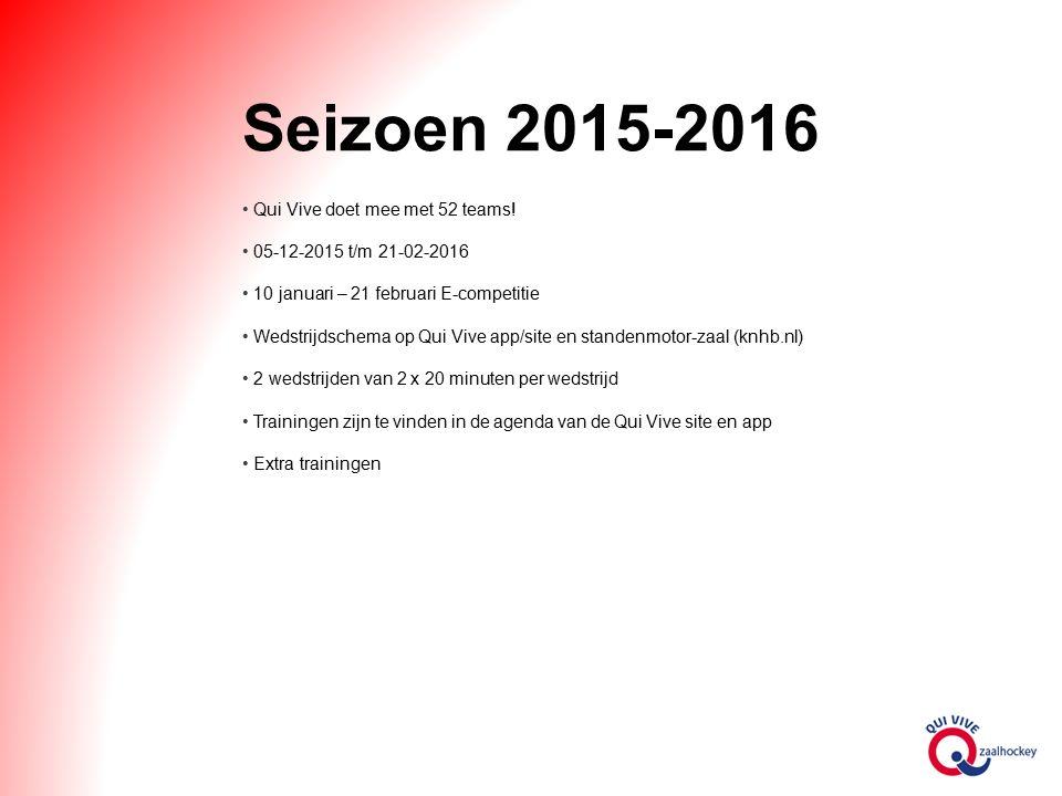 Seizoen 2015-2016 Qui Vive doet mee met 52 teams.