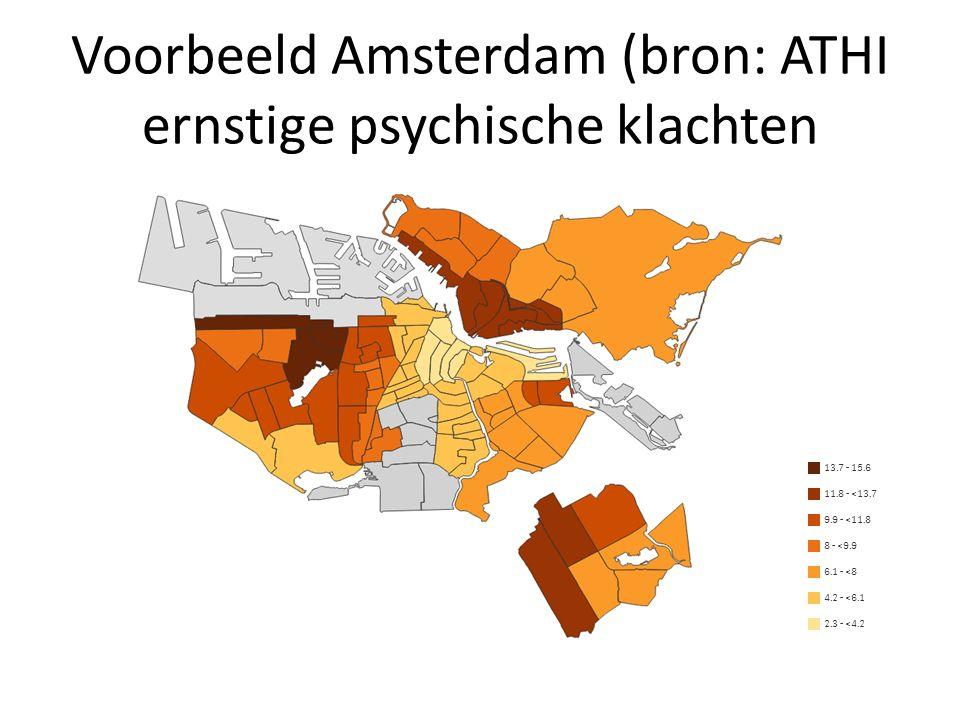 Voorbeeld Amsterdam (bron: ATHI ernstige psychische klachten
