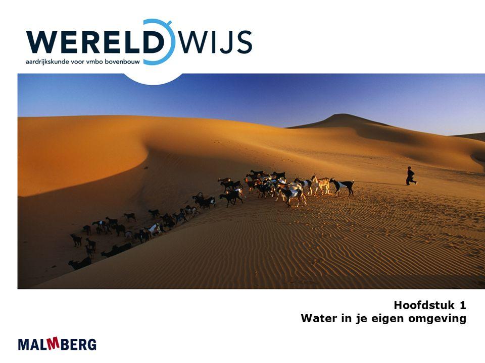 Paragraaf 1 Soorten water in verschillende regio's Drie soorten water: - oppervlaktewater - grondwater - regenwater Regio's Kust- en zeegebieden Riviergebieden en beekdalen Meren en plassen Polders