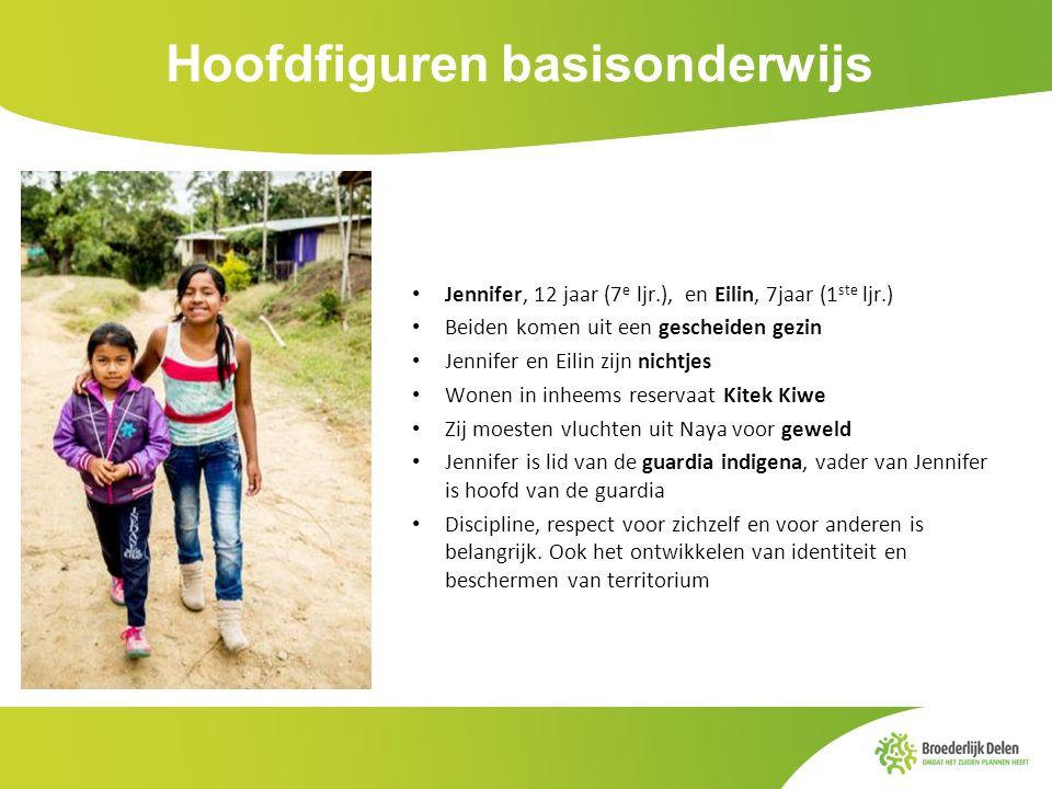 Hoofdfiguren basisonderwijs Jennifer, 12 jaar (7 e ljr.), en Eilin, 7jaar (1 ste ljr.) Beiden komen uit een gescheiden gezin Jennifer en Eilin zijn ni
