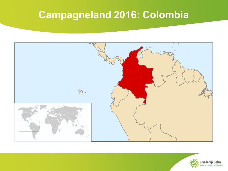 Córdoba Cauca Broederlijk Delen in Colombia Actief in 2 regio's: Cordoba (noorden) en Cauca (westen).