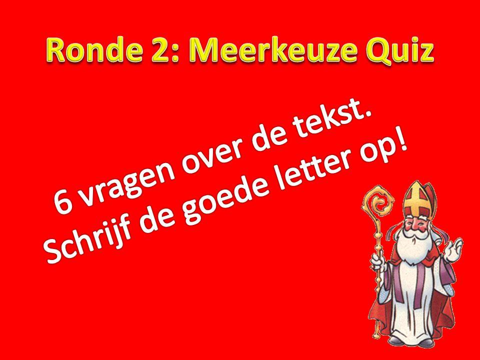 Vraag 2.Hoeveel procent van de Nederlandse bevolking viert de verjaardag van Sinterklaas.