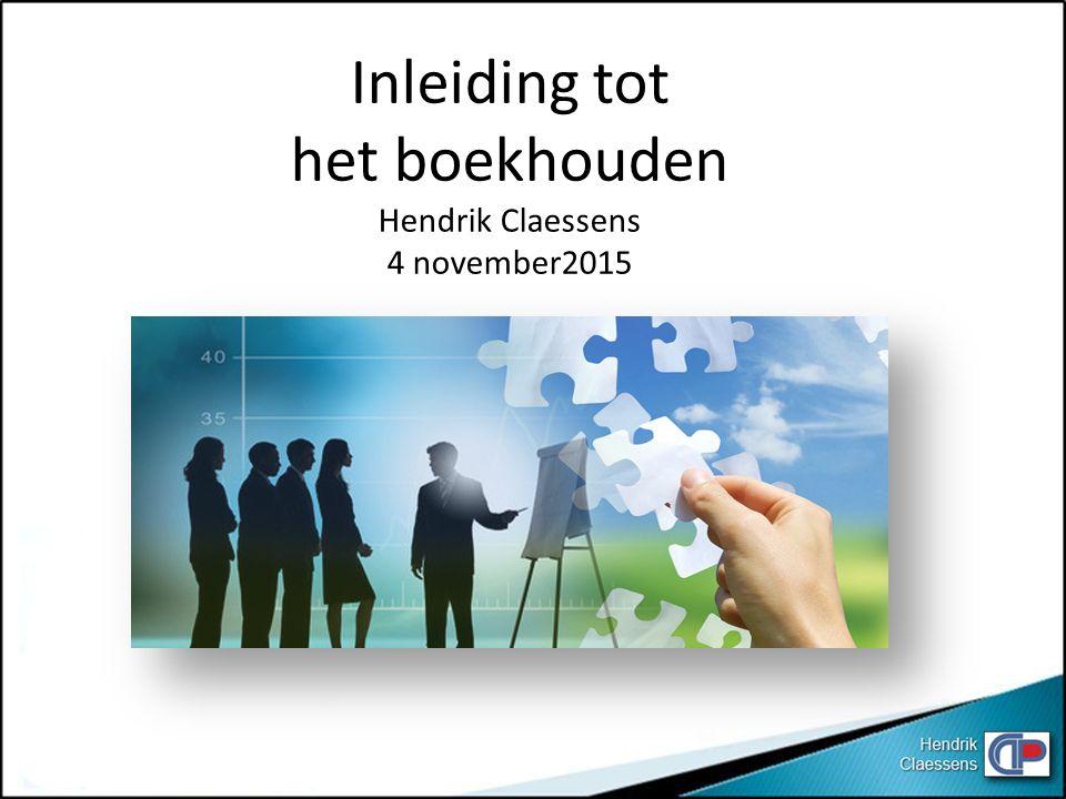 Actief Balans Passief Hendrik Claessens 6 Resultatenrekening 7 67