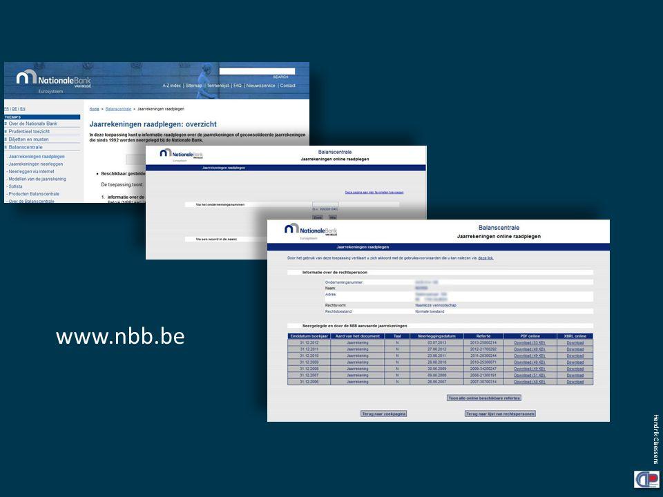 Hendrik Claessens www.nbb.be
