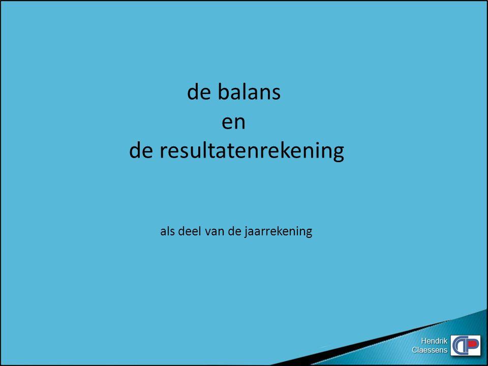 kapitaal 50 000 BALANS actief passief bank 50 000 Hendrik Claessens kapitaal50 000 bank 50 000 D D C C