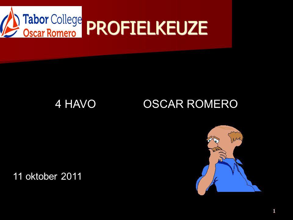 1 PROFIELKEUZE 4 HAVOOSCAR ROMERO 11 oktober 2011