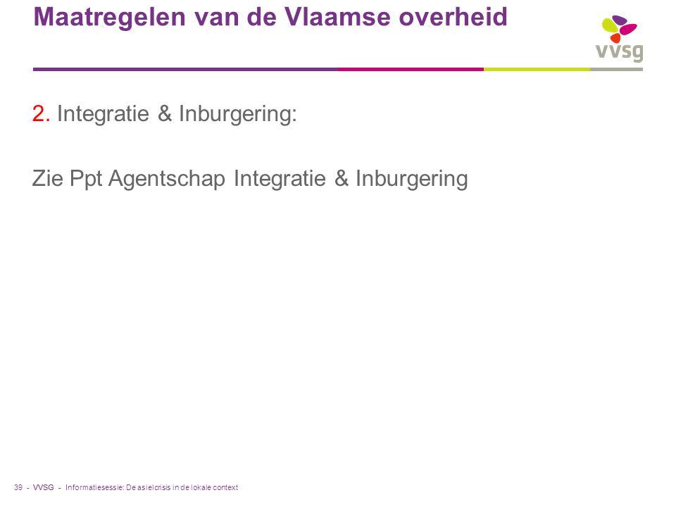 VVSG - Maatregelen van de Vlaamse overheid 2.