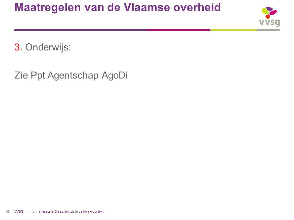 VVSG - Maatregelen van de Vlaamse overheid 3.