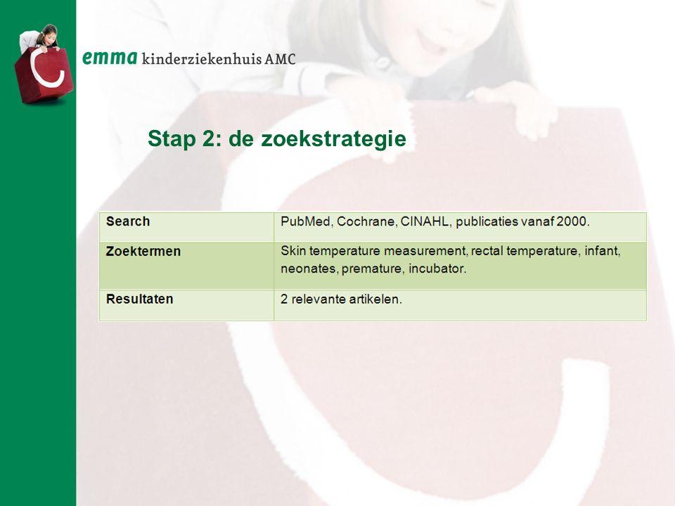 Stap 2: de zoekstrategie