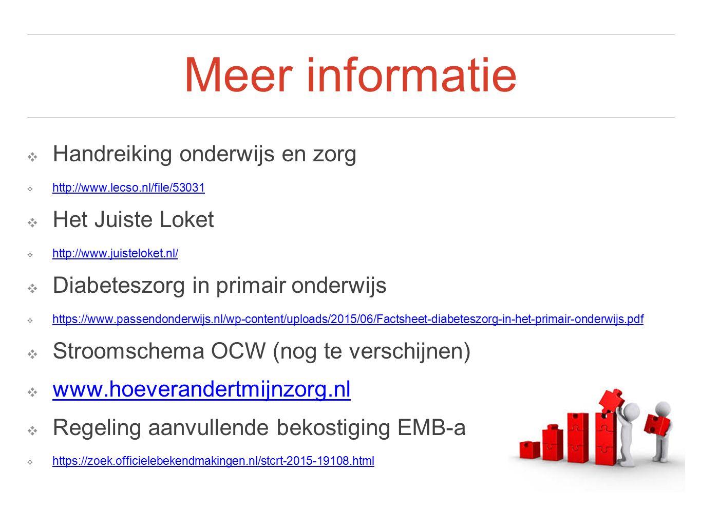 Meer informatie ❖ Handreiking onderwijs en zorg ❖ http://www.lecso.nl/file/53031 http://www.lecso.nl/file/53031 ❖ Het Juiste Loket ❖ http://www.juiste