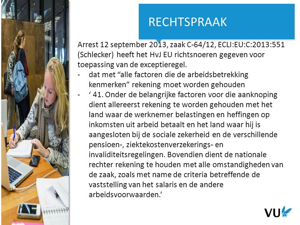 13Het begint met een idee 13 Het begint met een idee Arrest 12 september 2013, zaak C-64/12, ECLI:EU:C:2013:551 (Schlecker) heeft het HvJ EU richtsnoeren gegeven voor toepassing van de exceptieregel.