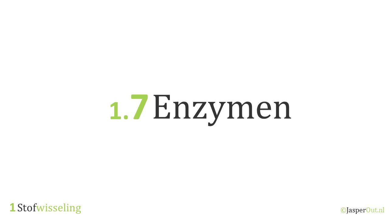 Stofwisseling 1 ©JasperOut.nl Enzymen 1. 7