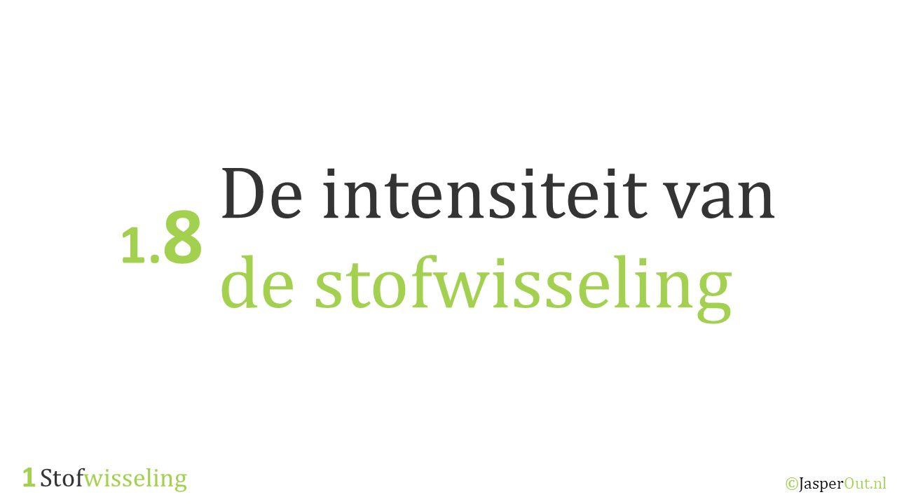Stofwisseling 1 ©JasperOut.nl De intensiteit van de stofwisseling 1. 8