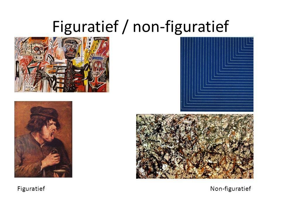Figuratief / non-figuratief Figuratief Non-figuratief