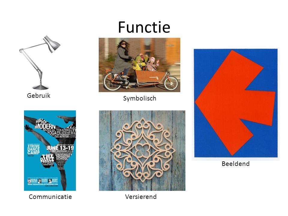 Functie Gebruik Communicatie Symbolisch Versierend Beeldend