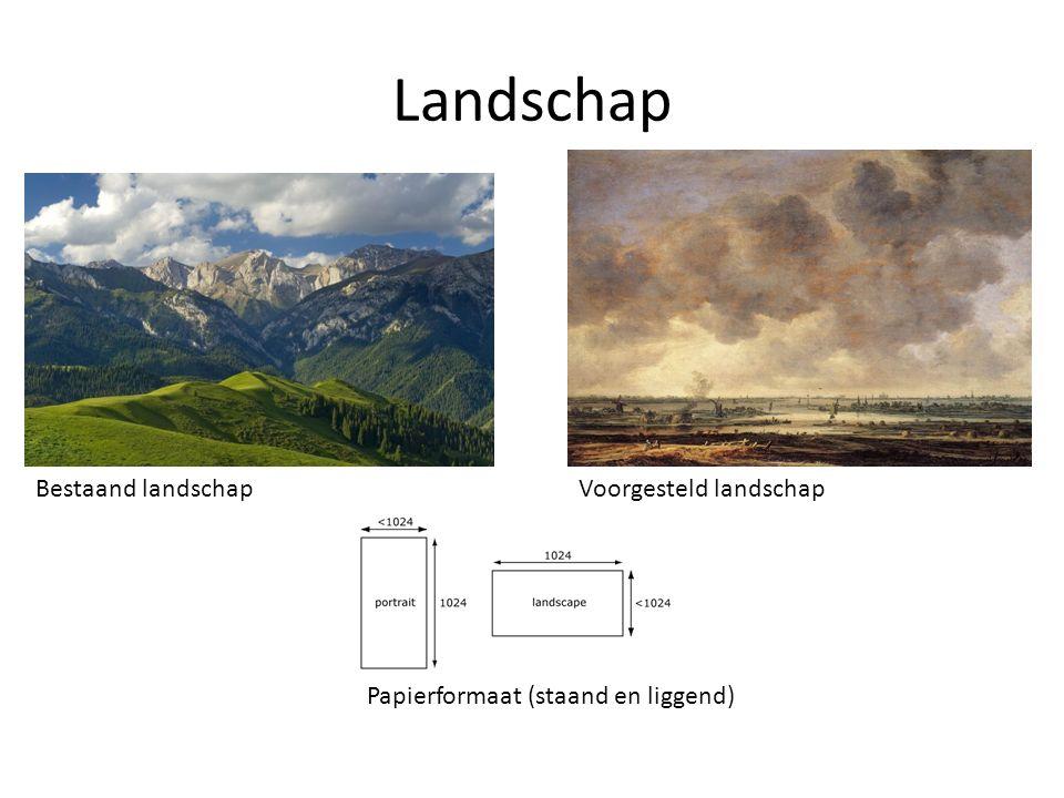 Landschap Bestaand landschapVoorgesteld landschap Papierformaat (staand en liggend)