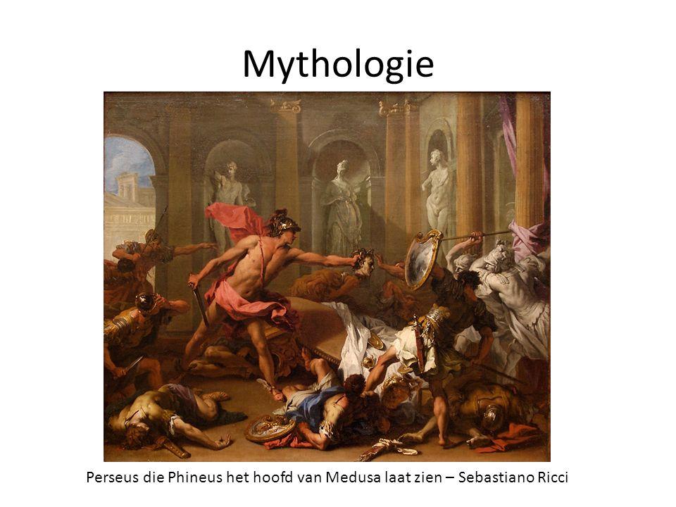 Mythologie Perseus die Phineus het hoofd van Medusa laat zien – Sebastiano Ricci