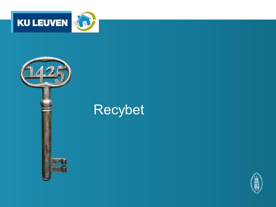 9 Recybet is een Buildchem-project, dat als doel heeft de materialenkringloop bij de productie van prefab- betonproducten te sluiten.