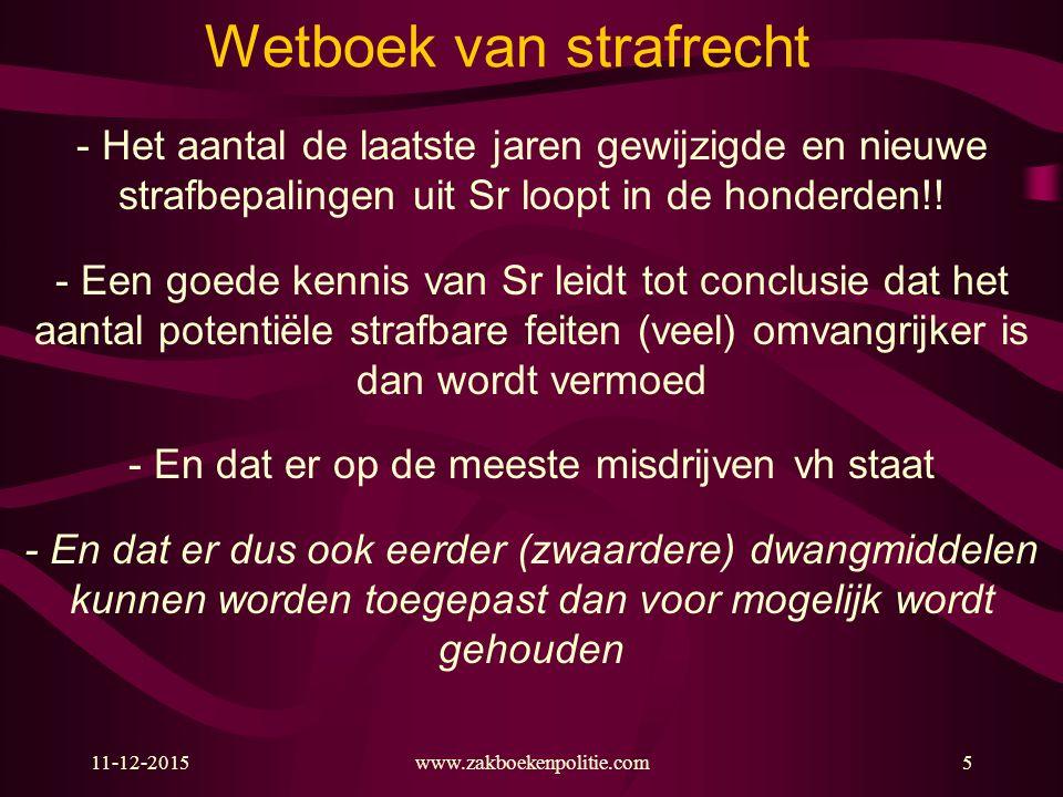 11-12-2015www.zakboekenpolitie.com66 Niet voldoen aan bevel (art.
