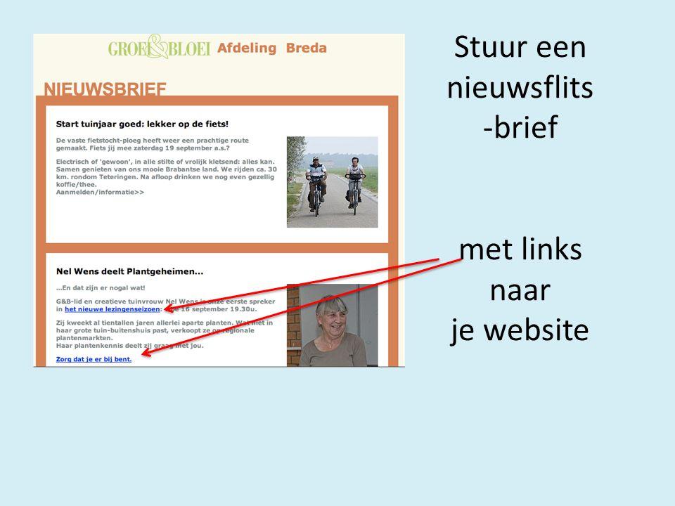 Stuur een nieuwsflits -brief met links naar je website