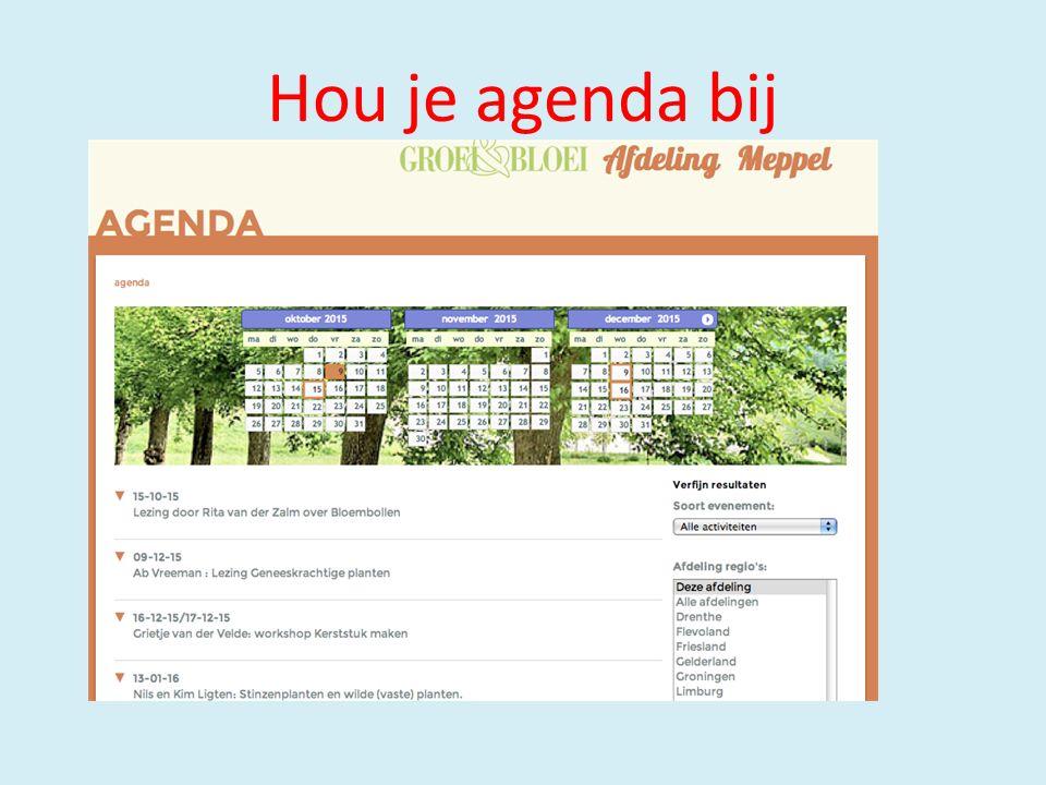 Hou je agenda bij