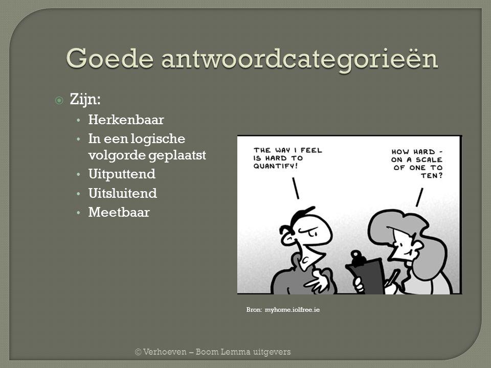 © Verhoeven – Boom Lemma uitgevers  Onderwerpslijst = topiclijst  Uitgangspunt is centrale onderzoeksvraag  Vraagstelling is a.d.h.v.
