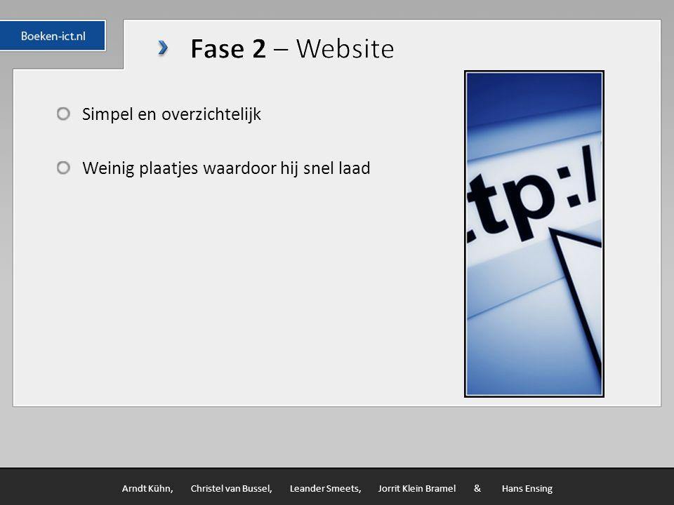 Office pakket Internet Arndt Kühn, Christel van Bussel, Leander Smeets, Jorrit Klein Bramel & Hans Ensing