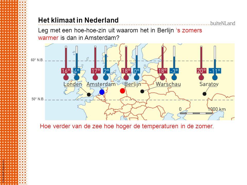 Uit welke richting waait de wind meestal in Nederland? Uit het westen Het klimaat in Nederland