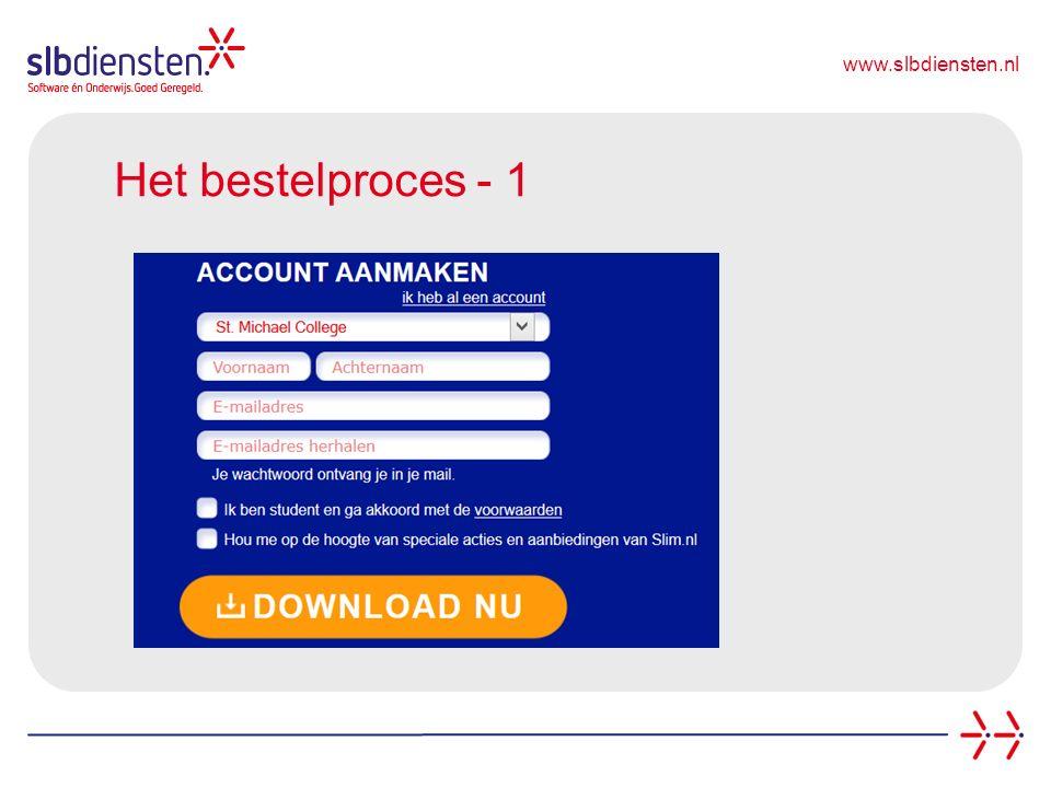 www.slbdiensten.nl Het bestelproces - 1