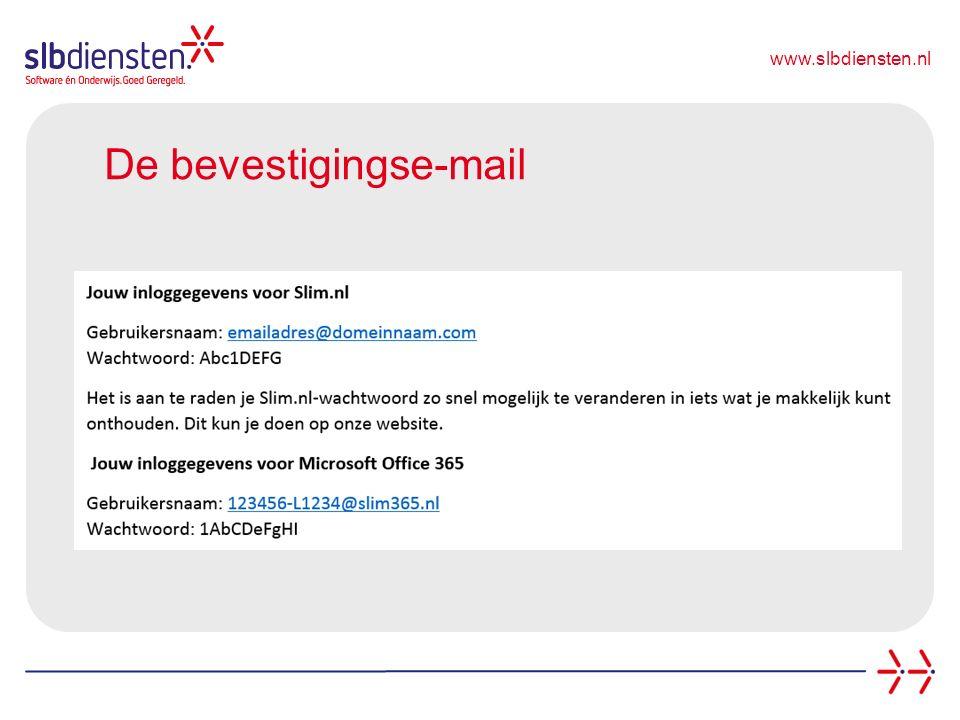 www.slbdiensten.nl De bevestigingse-mail