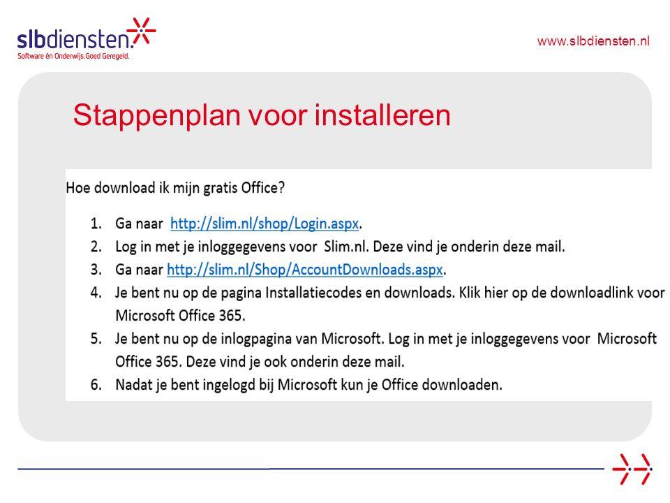 www.slbdiensten.nl Stappenplan voor installeren