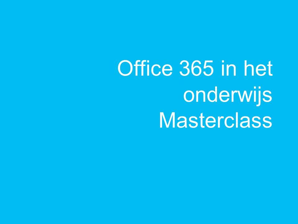 Office 365 in het onderwijs Masterclass