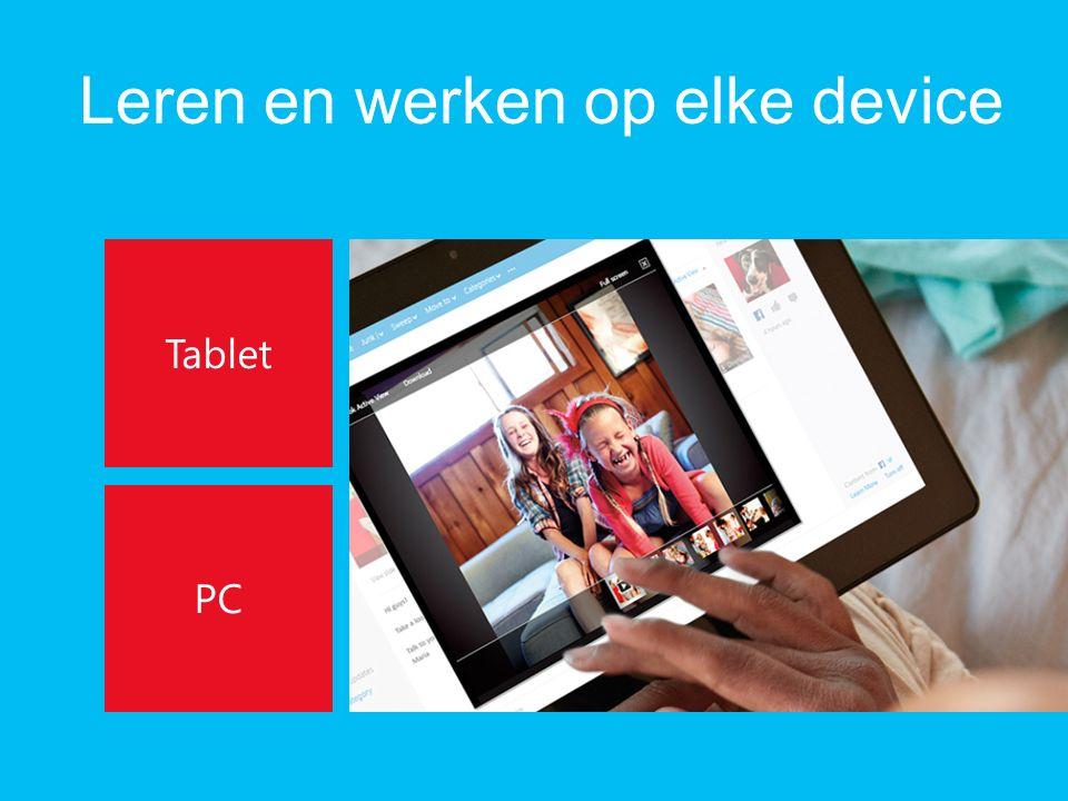 Leren en werken op elke device Tablet PC