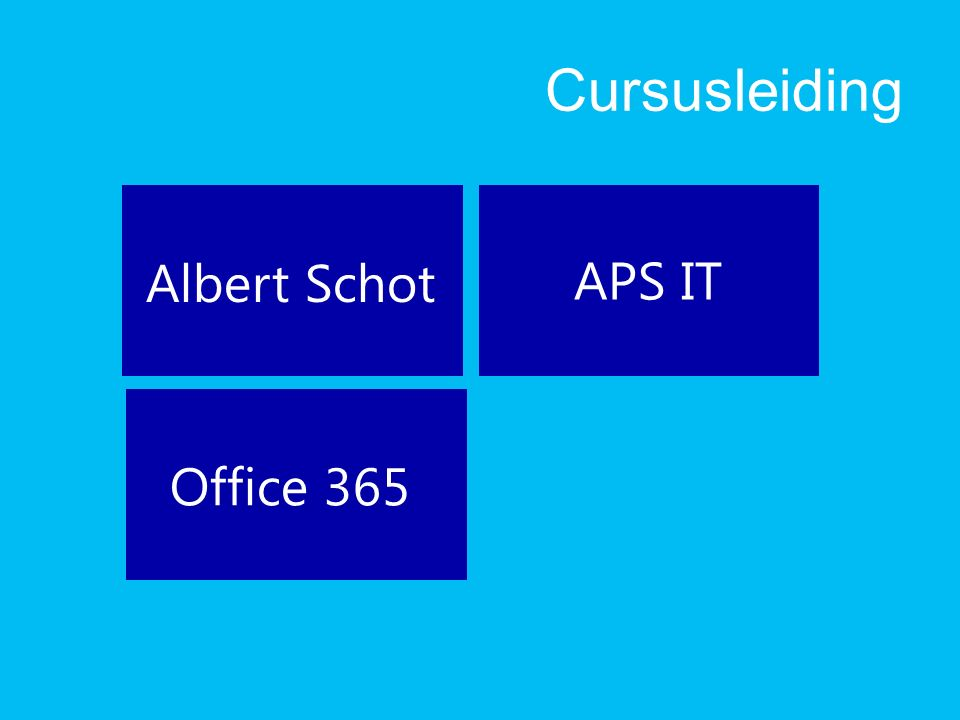 Cursusleiding APS IT Office 365 Albert Schot