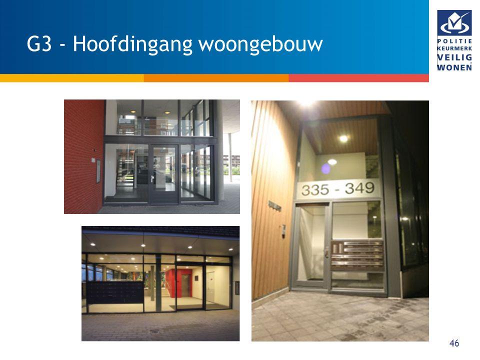 47 G4 - Toegangsdeuren gemeenschappelijk ruimten WAT: Toegangsdeuren van parkeergarage, bergingencomplex fietsenstalling e.d.