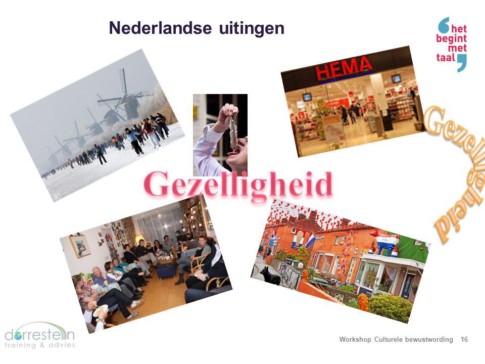 Nederlandse uitingen Workshop Culturele bewustwording16