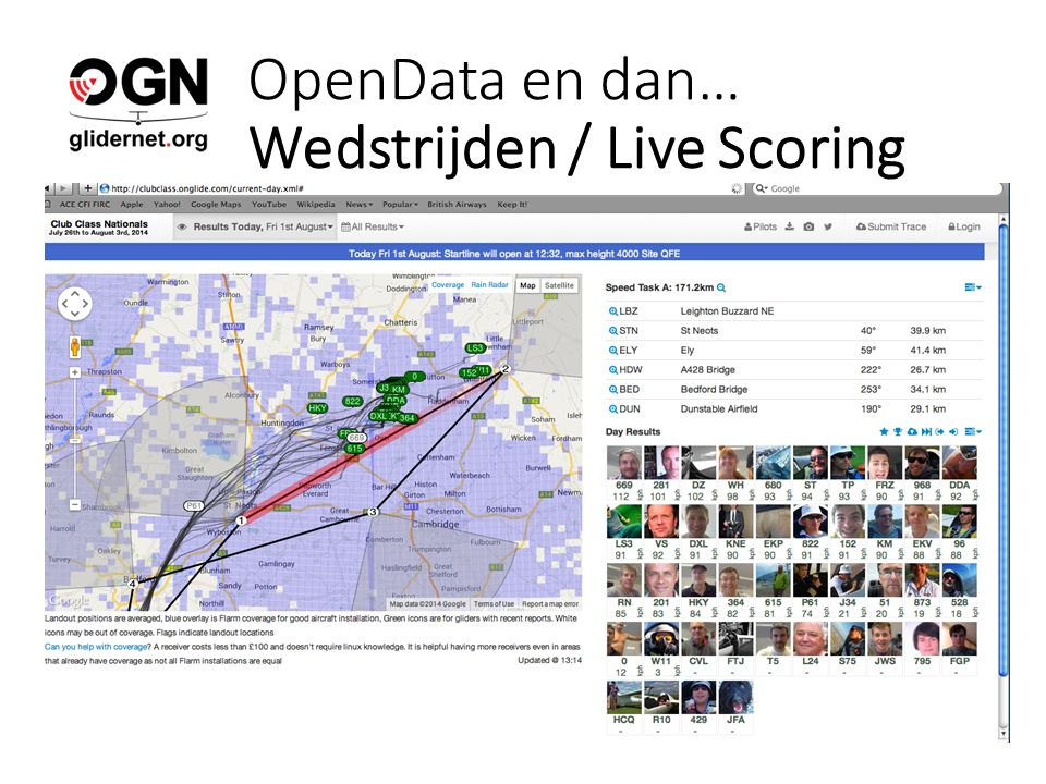 OpenData en dan… Wedstrijden / Live Scoring