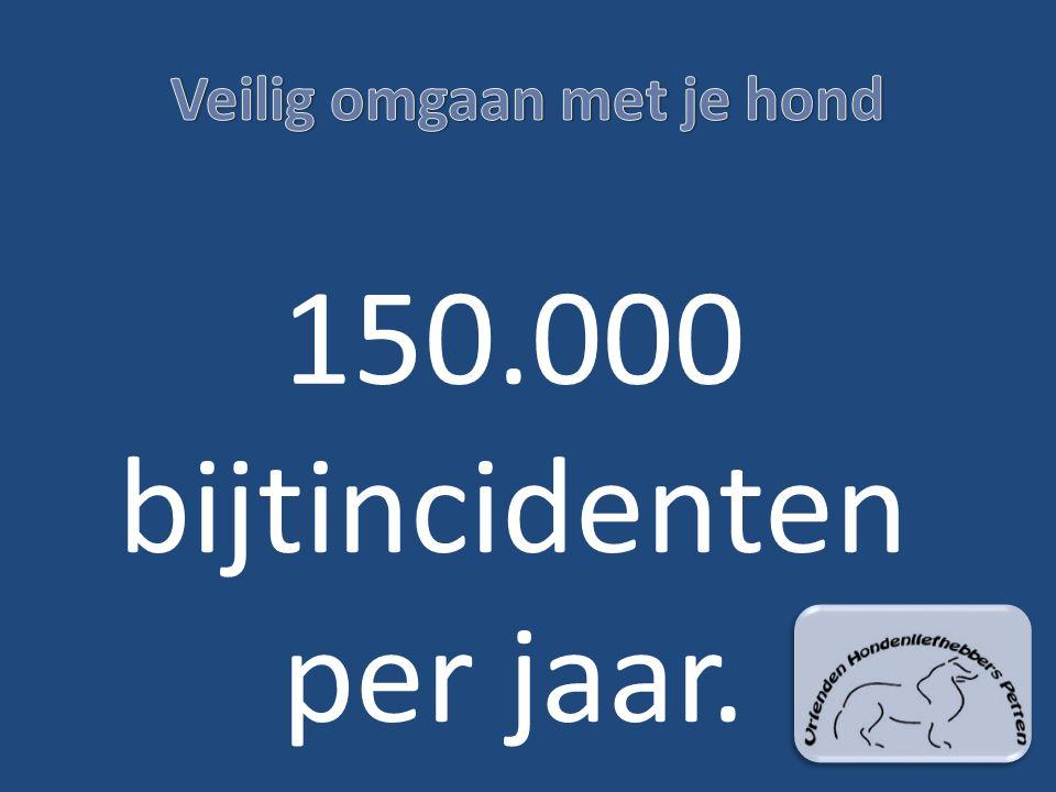 150.000 bijtincidenten per jaar.