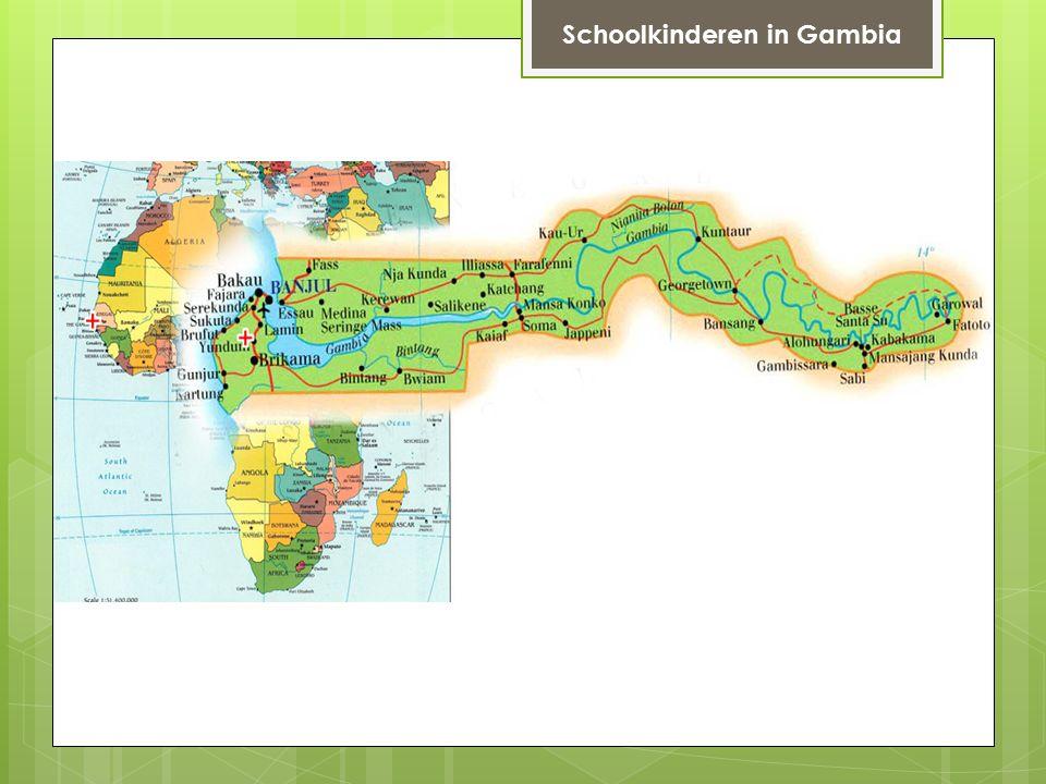 Schoolkinderen in Gambia