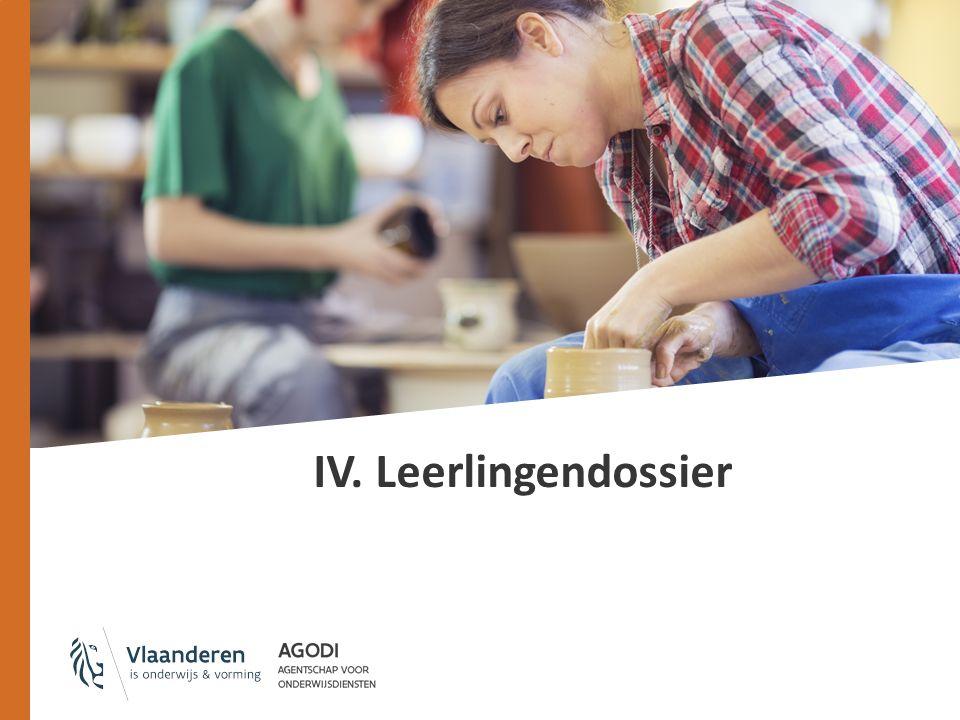Administratieve documenten Model/richtlijnen/bewaartermijnen: Stamboekregister Inschrijvingsregister Individuele steekkaart Aanwezigheidsregister Registratiefiche van de leerling Bewijsstukken van afwezigheden Leerlingendossier Leerlingenkenmerken