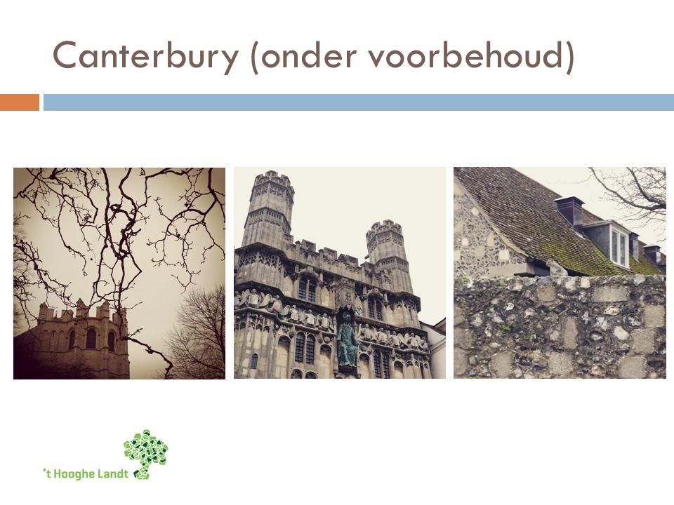 Canterbury (onder voorbehoud)