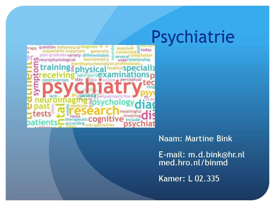 Naam: Martine Bink E-mail: m.d.bink@hr.nl med.hro.nl/binmd Kamer: L 02.335