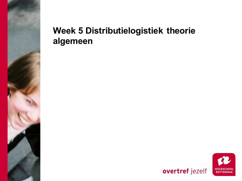Week 5 Distributielogistiek theorie algemeen