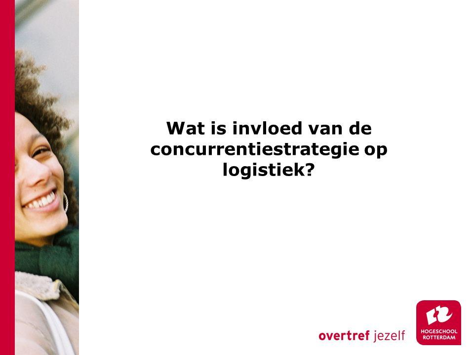 Wat is invloed van de concurrentiestrategie op logistiek?